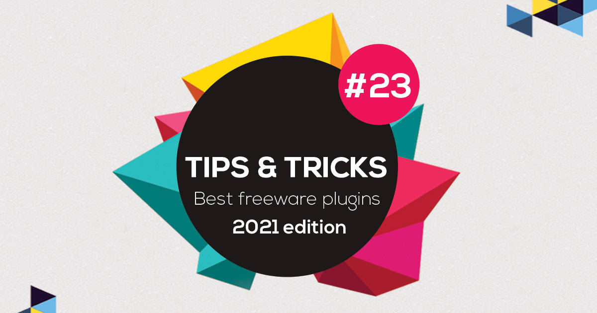 """Featured image for """"Free plugins – 2021 edition! – Tip 23"""""""